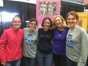 So glad we all had the opportunity to assist Kathrine with her booth at IMT Des Moines Marathon 2015!